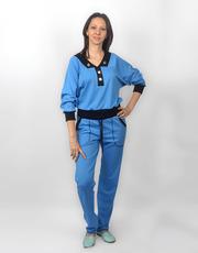 Голубой женский трикотажный костюм СК 210